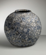 Large neriage, 1988, Japanese contemporary, modern, ceramics, sculpture, Living National Treasure