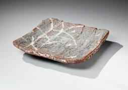 nezumi shino, japanese ceramics, wakao, wakao toshisada