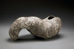 Wada Morihiro, Japanese sculpture, Japanese ceramic, Japanese vessel, Japanese non-utilitarian forms, Japanese stoneware, Japanese glazed stoneware, 1991