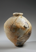 Large asymmetrical shigaraki wood-fired vessel, ca. 1985