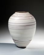 Ito, Hidehito, Ito Hidehito, neriage, marbleized, porcelain, marbleized porcelain, Japanese, ceramics, 2015, contemporary, Japanese ceramics, contemporary ceramics, tsubo, vessel, vase, craqueluer