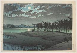Kawase Hasui (1883-1957), Hiroura in Mito (Hbaraki)- High Marsh fromTokaidoō fukei senshÅ«,Selected Views of the Tokaidō
