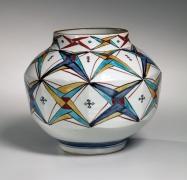 Vase with geometric patterning, ca. 1972