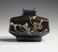 Flask-vase with floral relief decoration, ca. 1953