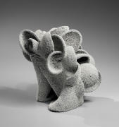 Katsumata Chieko (b. 1950), White chamotte-encrusted sculpture in the form of seaweed