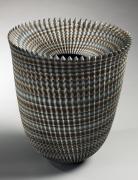 Flared neriage (marbleized) vase, 2014