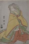 Utagawa Toyokuni I (1769-1825), Sawamura Sokuro III (1753-1801) as court woman with white wig, possibly Konomura Ōinosuke