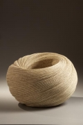 Sakiyama Takayuki, Double-walled, large twisting vessel with carved folds, 2010, Stoneware with sand glaze, Japanese contemporary ceramics, Japanese sculpture