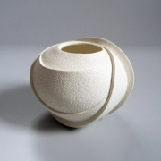 White vessel with impressed patterning, 2017