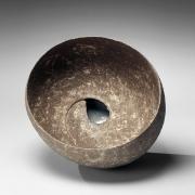 Ito, Tadashi, ocean, mist, round, sculpture, teardrop, sunken, glaze, base, stoneware, japan, japanese, ceramics, clay, stoneware, pottery, art, contemporary, modern, abstract, nyc, gallery
