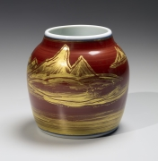 Vase with landscape designs, ca. 1983