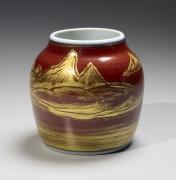 Vase with landscape designs, ca. 1983