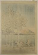 Kawase Hasui (1883-1957), Lake Tōya in Hokkaido