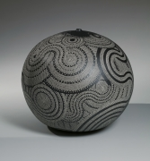 Globular vessel decorated with wave and circle patterning, 1999