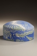Round covered-box, 1989, Japanese contemporary, modern, ceramics, sculpture, Living National Treasure