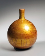 Ono Hakuko, vase with underglaze gold foil, ca. 1980-1985, Japanese contemporary ceramics