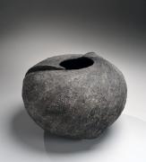 Sutō Satoshi (b.1976), Carved tsubo (vessel) striatedpatterning