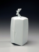 Wada Akira, Japanese glazed porcelain, Japanese incense burner, ca. 2012
