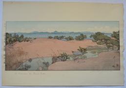 YOSHIDA HIROSHI (1867-1950), Kohan no niwa (A Garden by Biwa Lake)