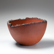 Imai Hyoe, Sekito, Red Work, 1989, black and iron slip-glazed stoneware, Japanese sculpture, Japanese ceramics, Japanese pottery, Japanese contemporary ceramics