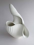 Inaba Chikako (b. 1974), Curled, leaf-shaped Vessel #1