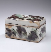 Rectangular lidded box with rounded corners, 1985