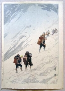Subject: Climbing Snow Valley, from the series Twelve Scenes in the Japan Alps