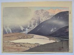 YOSHIDA HIROSHI (1867-1950), Tateyama Betsuzan(Mt. Betsu of the Tate Mountain Range)