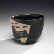 Wada Morihiro (1944-2008), Teabowl with abstract bird patterning