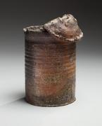 Tsuji Seimei, Japanese shigaraki, Japanese yakishime stoneware, Japanese stoneware, Japanese ceramic can, 1988