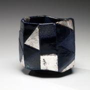 Ajiki Hiro (b. 1948), Cobalt blueBasarateabowl