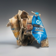 Mishima, Kimiyo, Mishima Kimiyo, sculpture, charcoal, box, newspaper, soda, can, contemporary, clay, ceramic, glazed, stoneware, pottery, art, pop art, japan, japanese, contemporary art, japanese ceramics, 2012