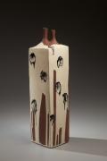 Tall stoneware sculptured vessel, 1964