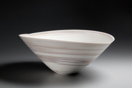 Ito Hidehito, large neriage bowl, marbleized clay, 2014, marbleized porcelain, Japanese ceramics, Japanese pottery, Japanese bowl, Japanese neriage, Japanese contemporary ceramics, Japanese porcelain
