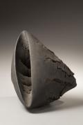 Akiyama Yo, Untitled T-51, 2007, Stoneware with wood base, Japanese contemporary ceramics, Japanese sculpture