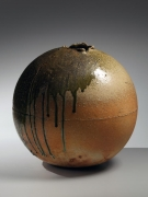 Tsujimura Shiro, Japanese stoneware with natural ash glaze, Japanese shigaraki, Japanese vase, 2013