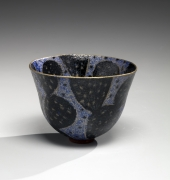 Maeda Masahiro (b. 1948), Teabowl with cactus pattern and gold rim