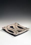 Kuriki Tatsusuke (1943-2013), Platter with geometric patterning