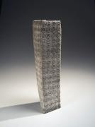 Ichino Masahiko (b. 1961), Square standing vase with trailing slip decoration of circular pattern