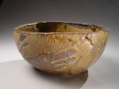 Hamanaka Gesson (b. 1943), Bowl with oribe glaze