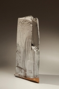 Vertical double-walled rectangular vessel, 2009, Japanese contemporary ceramics, modern, sculpture
