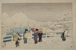 ODA KAZUMA (1881-1956), Matsue ōhashi (Matsue Great Bridge)