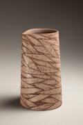 Columnar vessel, 1988, Japanese contemporary, modern, ceramics, sculpture