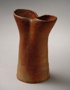 Mori Togaku, Bizen vertical vessel, ca. 1990, Japanese contemporary ceramics, modern, sculpture