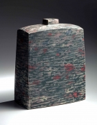 "Sen Shun ""Early Spring"" rectangular vessel decorated with landscape scene, 1983"