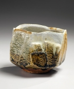Nishihata Tadashi, Faceted, ash-glazed stoneware teabowl, 2013, Japanese modern, contemporary, ceramics, sculpture
