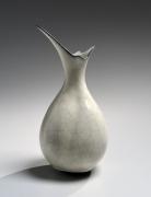 WAKAO KEI (b. 1967), Craquelure, white celadon-glazed bulb-shaped vase with soaring mouth