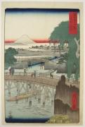 Utagawa Hiroshige (1797-1858), Ichikoku Bridge in Edo