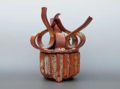 Shino-glazed incense burner, 2012