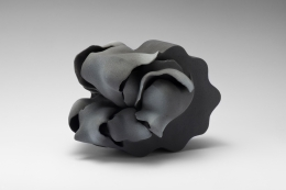 Fujino Sachiko, Interconnection 15-8, flower-inspired sculpture, 2015, stoneware with matte glaze, Japanese ceramics, Japanese pottery, Japanese contemporary ceramics, Japanese sculpture